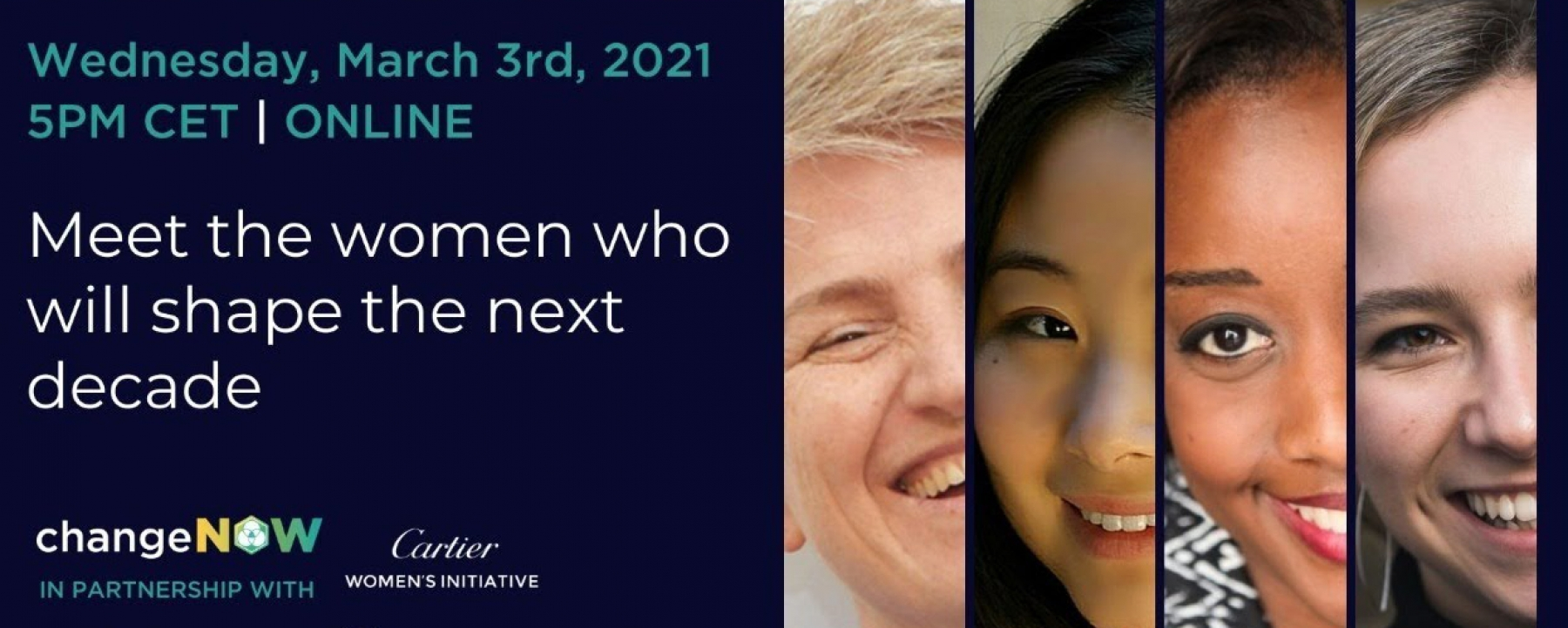 Meet the women who will shape the next decade, organisé par ChangeNOW le 3 mars